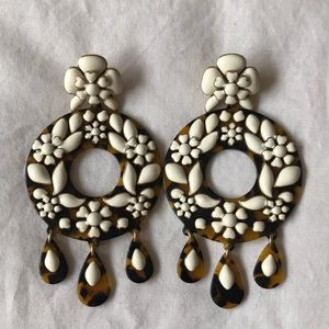 J.Crew tortoise enamel earrings